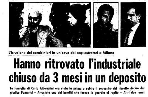 Sequestro Alberghini 1976