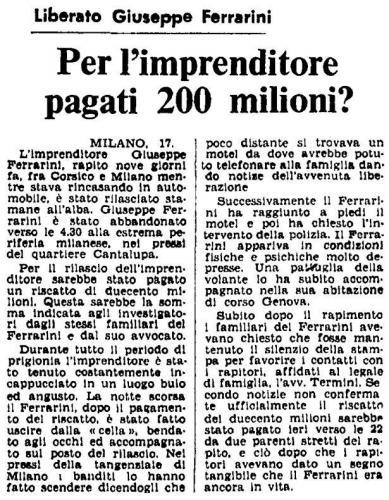 Sequestro Ferrarini 1975