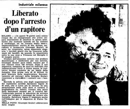 Sequestro Scalari 1977