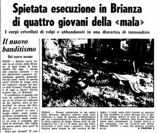 Strage Desio 24 novembre 1978